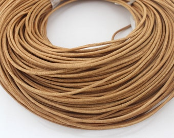 2mm Round Leather Cord, Genuine Leather Cord, Leather String, Natural Leather Cord, Necklace Cord, Bracelet Cord, Jewelry Cord--PS101