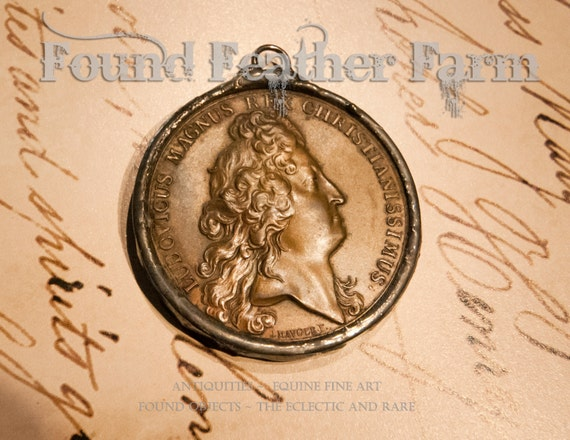 Handmade Soldered Vintage Bronze Coin Pendant