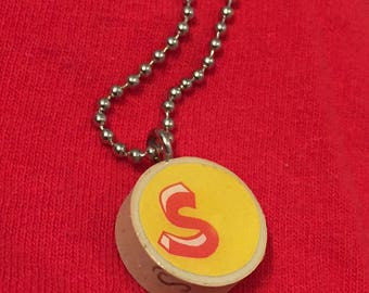 S is for Sarah initial/monogram recycled cork pendant