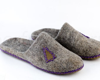 "House felted slippers ""Lodge"" 