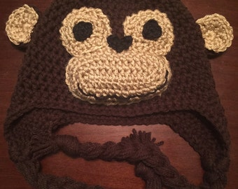 Monkey Ear-Flap Beanie