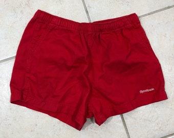 "Reebok Gym Shorts Size M Cotton Drawstring Front 2.5"" Inseam Casual Shorts"