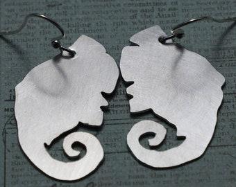 Aluminum Elephant Head Earring