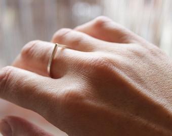 Teardrop ring sterling silver, sharp, geometric ring