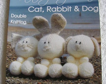 Cat, Rabbit And Dog Knitting Pattern In DK