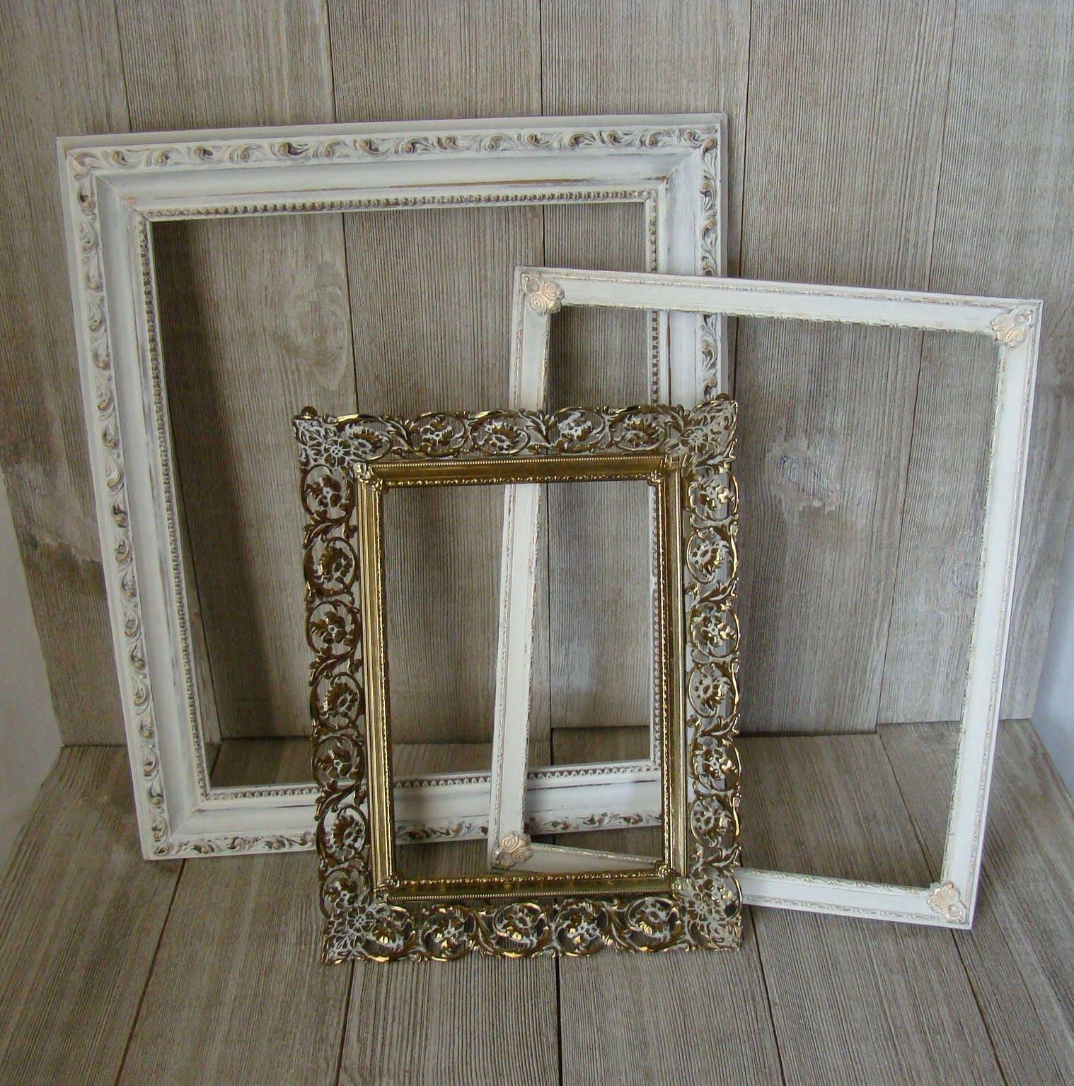 Set of 3 Vintage Picture Frames, Wedding frames, Ornate Picture ...
