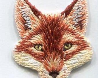 Fox head iron on patch