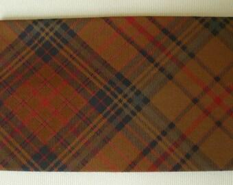 All checkbook and tartan cotton card holder