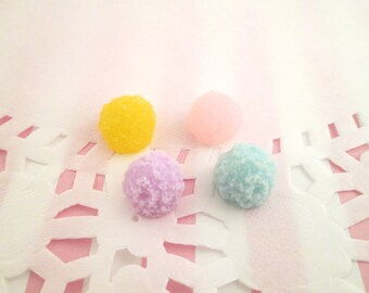 Set of 4 ice cream snow cone cabochons, #260a
