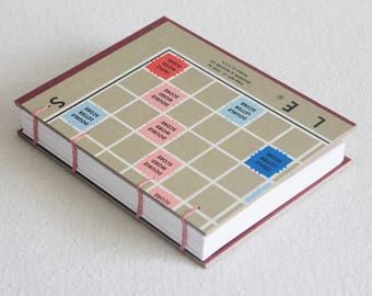 Scrabble Journal Recycled Game Board Book Upcycled Scrabble Gameboard 09 by PrairiePeasant
