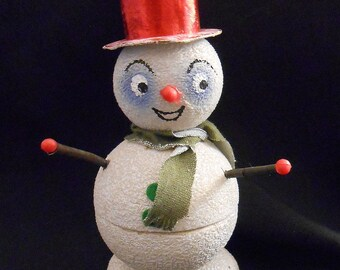 Western Germany Snowman Candy Container