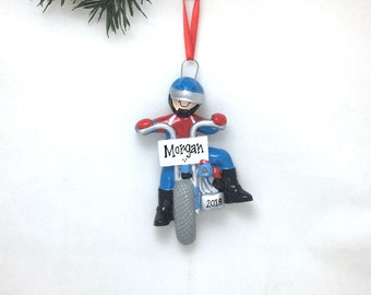 Off-Roading Christmas Ornament / Dirt Bike Ornament / Personalized Christmas Ornament / Cycling Ornament