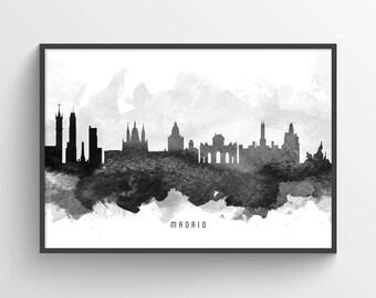 Madrid Poster, Madrid Skyline, Madrid Cityscape, Madrid Print, Madrid Art, Madrid Decor, Home Decor, Gift Idea, ESMD11P