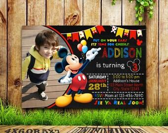 Mickey Mouse Invitation / Mickey Mouse Birthday / Mickey Mouse Party / Mickey Mouse Printable / Mickey Mouse Birthday Invitation / Mickey