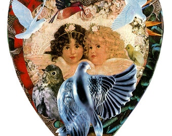"""Mother's Little Angels  5""""x7"""" Collage Greeting Card"""