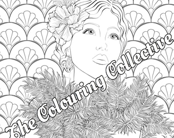 1920s Flapper Pack 1  Adult Colouring Pages - set of 3 Digital Stamp/ printable / instant download