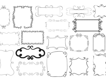 Digital Frame Svg Square Clipart Decoration Wedding
