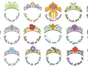 Disney Princess Tiara/Crown Monogram Shirt