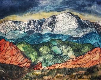 Pikes Peak Fine Art Print