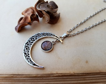 Crescent Moon Necklace, moon necklace, gift for her, gift for girlfriend, stacking necklace, moon jewelry moon phase jewelry bridesmaid gift