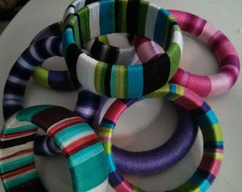 Yarn Wrapped Bracelets Pattern