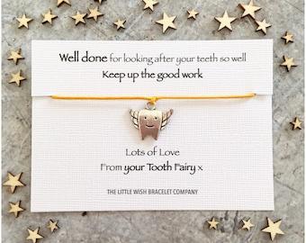 TOOTH FAIRY Wish Bracelet .. Add a Name & Custom  options