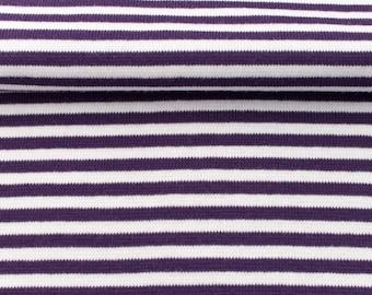 Cuffs - size 80cm - purple/white striped