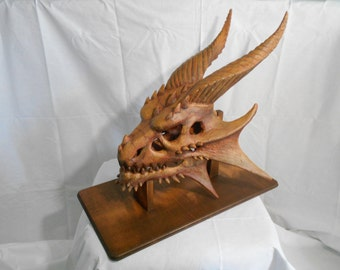 Wise Old Dragon Skull