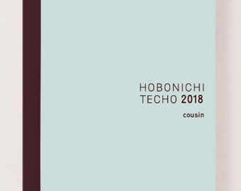 Hobonichi Cousin Avec Book (July-December 2018)
