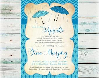 Printable Sprinkle Baby Shower Invitation - Second Baby Shower Invitation - Digital File