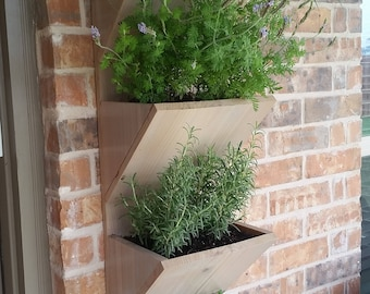 Vertical wall planter box pallet style crystal display shelf wall planter box herb garden planter 4 tier vertical garden planter large planter workwithnaturefo
