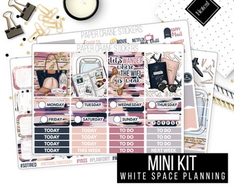 Travel Always - Mini Weekly Kit - White Space Planning - Planner Stickers - Vacation Packing - 150+ Stickers