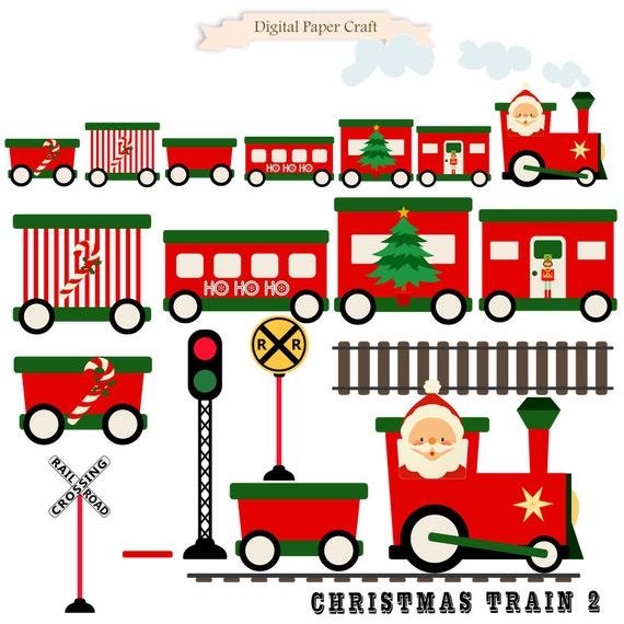 christmas train train clipart christmas clipart instant rh etsy com  christmas train clipart black and white