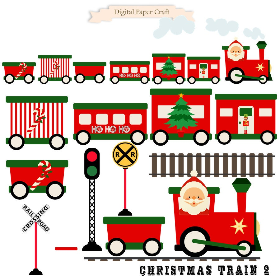 christmas train train clipart christmas clipart instant rh etsy com  christmas toy train clipart