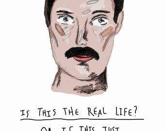 A5 Freddie Mercury print