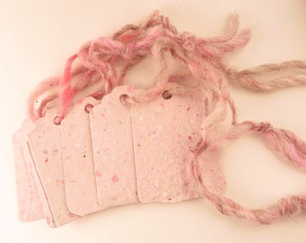5 Gift Tags - Handmade paper