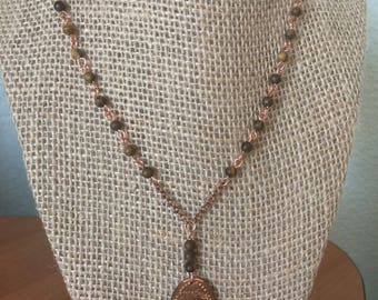 Disneyland Frontierland Pressed Penny Necklace