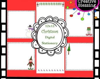 Christmas Digital Stationary Printout