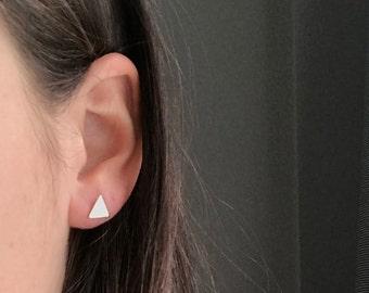 Triangle Stud Earrings - Opaque