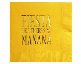 Décorations de Cinco de Mayo - serviettes Cocktail - Fiesta - lot de 20