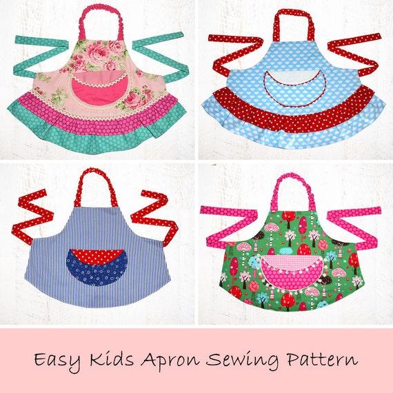 Girls Sewing Pattern pdf Kids Apron Pattern Apron Pattern