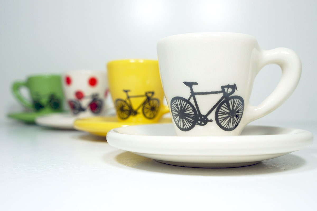 Tour de France. Never Dull & Always Awesome Espresso Cups with
