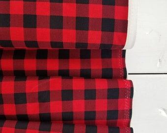 Christmas Delivery - Plaid Red and Black- Carta Bella - Penny Rose fabrics - Riley Blake Designs - Holiday Fabric - Christmas Fabric