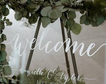 Wedding Welcome Sign - Wedding Signs - Acrylic Wedding Sign - Lucite Wedding Sign - Wedding Signs - Acrylic - Acrylic Wedding Signs