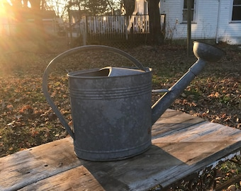 Watering Can * Vintage Watering Can * Galvanized Watering Can *  Industrial Metal Watering Can * French Country * Farmhouse