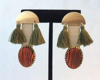 Vintage Cufflink handmade earrings (ONE OF A KIND!)