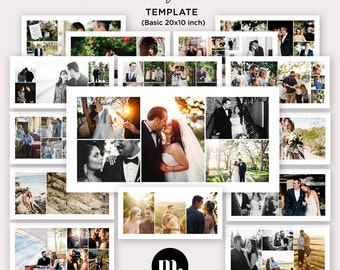 20x10 Storyboard Template, Blog Board, Digital Collage Template for Photographer - INSTANT DOWNLOAD - SB006