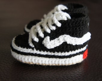 Cute Crochet Vans Baby Shoes