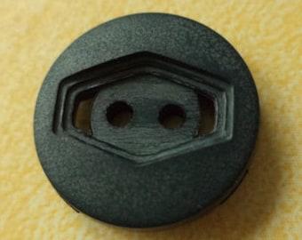 10 dark green buttons 15mm (3325) button Green
