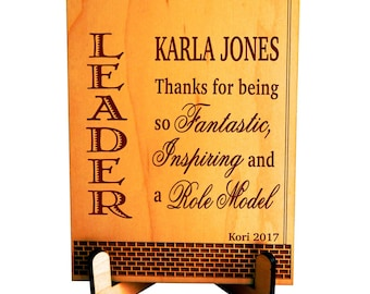 Boss Thank You Gift - Gifts for Boss Lady - Supervisor Appreciation Gift - Manager Office Gift from Staff - Plaque, PBA003